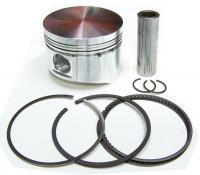 WBC Triumph TR250 TR6 Forged Piston with Rings, Wrist Pin & Retainers