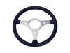 "Steering Wheel - 14"" Black Leather, Aluminum Spoked"