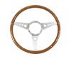 "Steering Wheel - 14"" Wood, Aluminum Spoked"